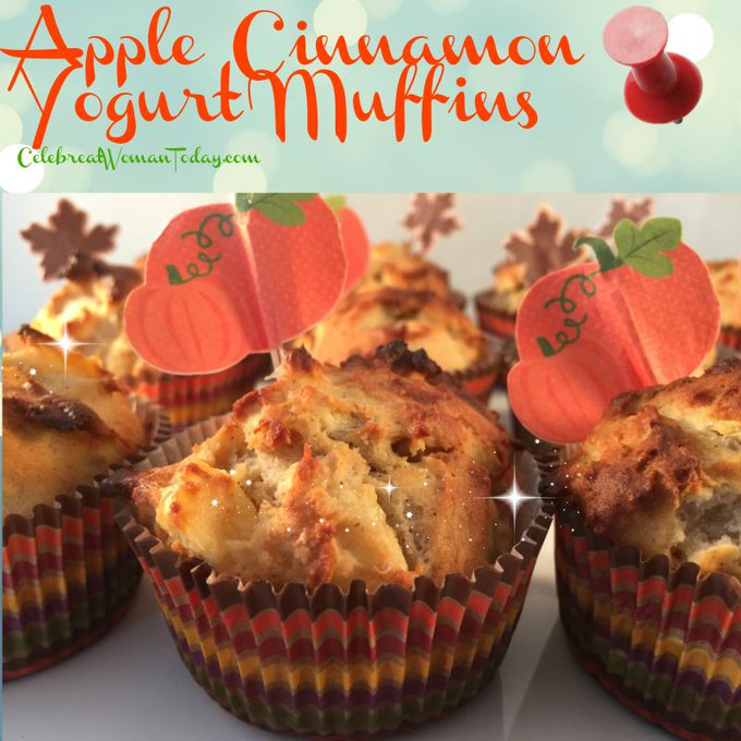 Apple Cinnamon Yogurt Muffins – #Recipes to Warm Up the Fall #RecipeIdeas