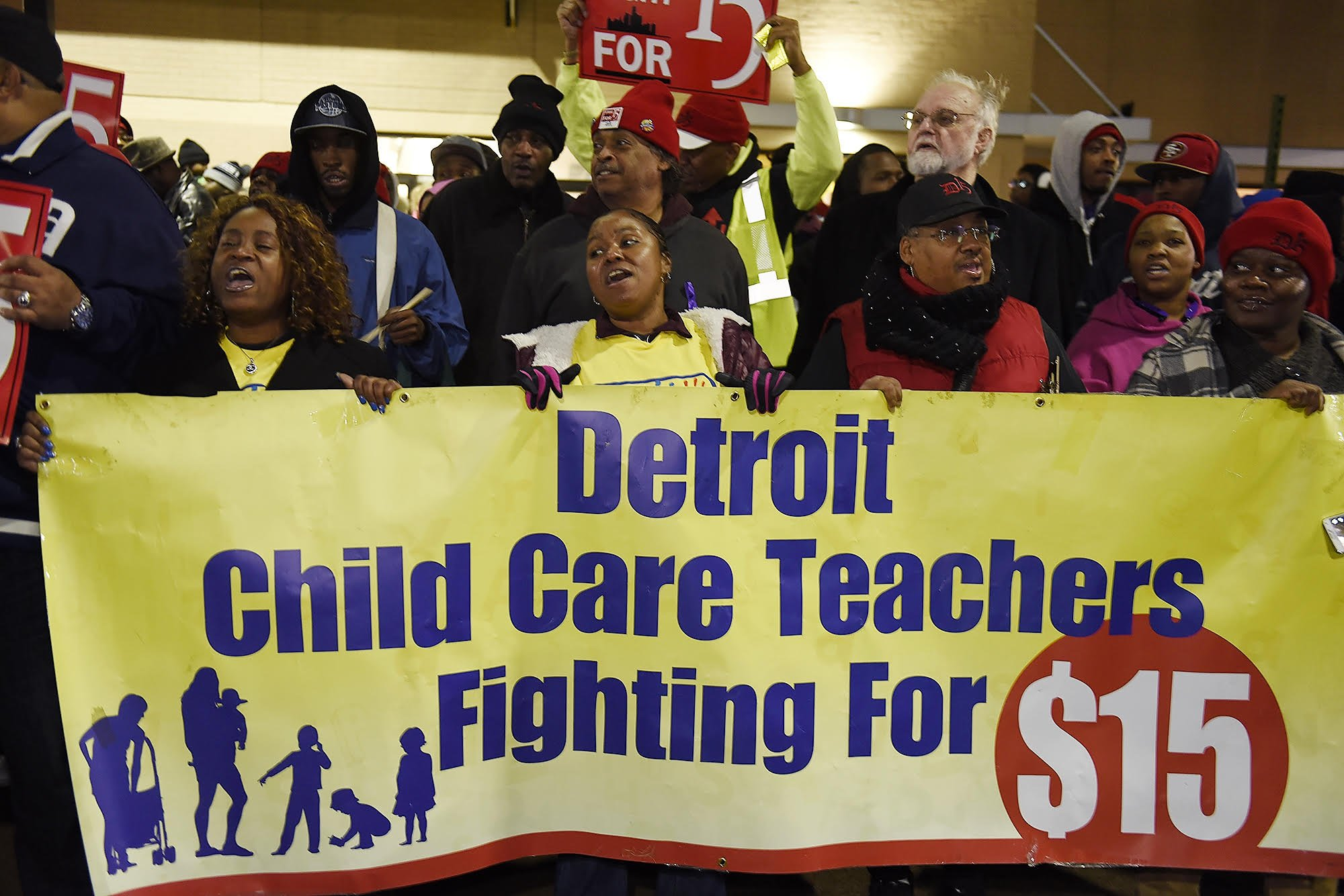 Child care workers in Detroit understand the struggle and will not be silenced. #FightFor15 #ChildCareForAll @Detroit_15 @fightfor15 https://t.co/0LcAlSfzJx