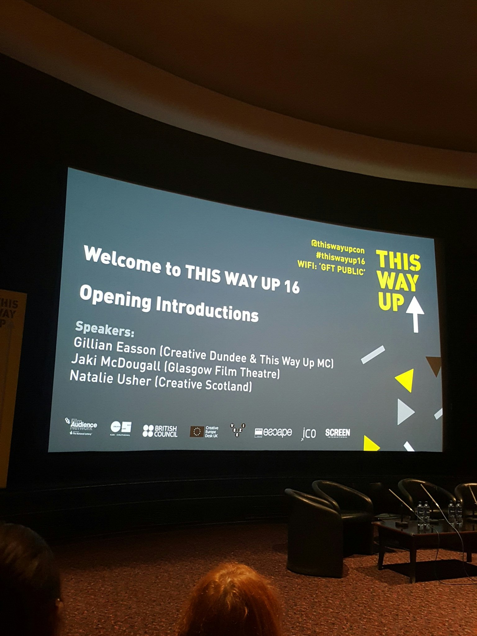 So we are off... This Way Up 2016. Two days of exploring the world of film exhibition and innovation #ThisWayUp16 https://t.co/lKgftqIFbs