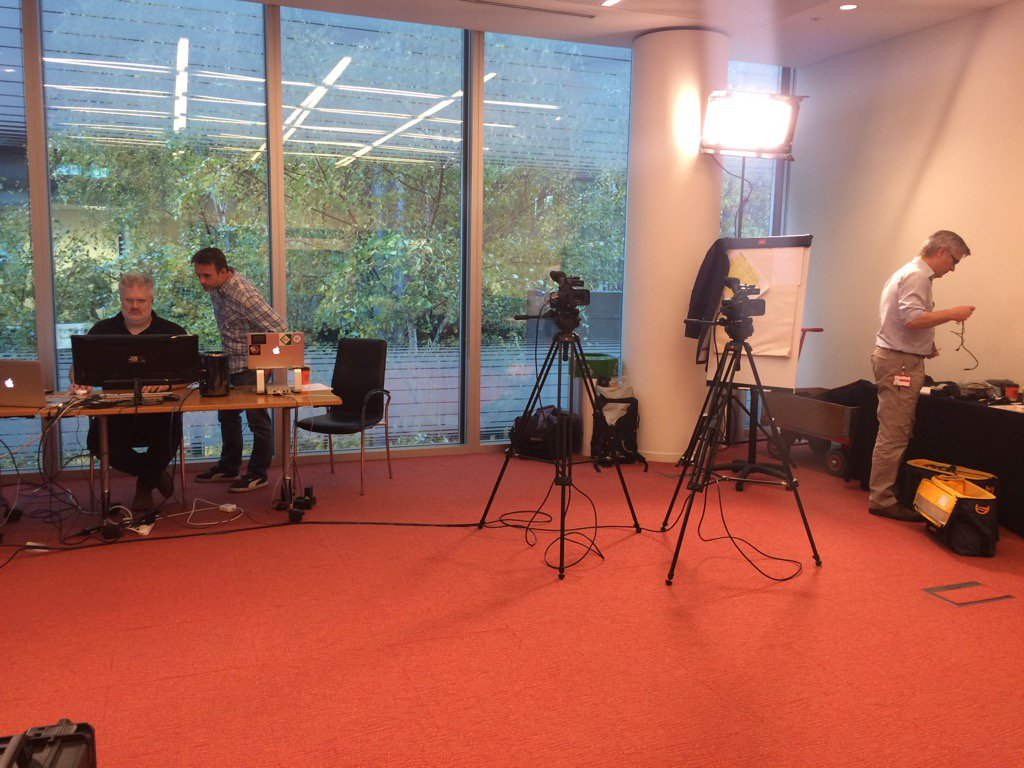 Behind the scenes prep this morning for #websci10 global TV. Great work by @zemedia and his team. https://t.co/IXkc0O9320