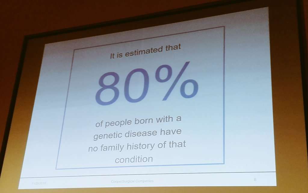 Family history isn't everything, even in #genomics #RareDisease - thought provoking statistic from Tony Gordon @GenesisGenetics #LSS2016 https://t.co/v9MG4Biaer