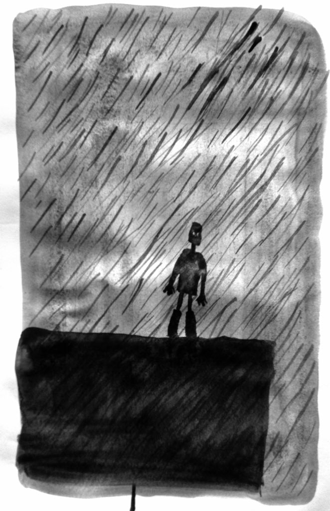 Design #sketches for #TheIronMan @Unicorn_Theatre 🌧 #illustration #puppets #puppetry #art #theatre #theater #animation #tedhughes #rain https://t.co/YrMMr3k6zR