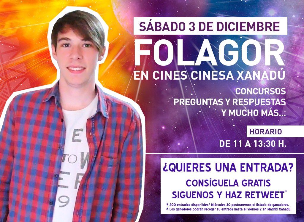 Este sábado vuelve @FolagoR a #madridxanadú. Sorteamos 200 entradas. ¿Quieres la tuya? Haz follow+retweet ;-) https://t.co/6g9innMOyt