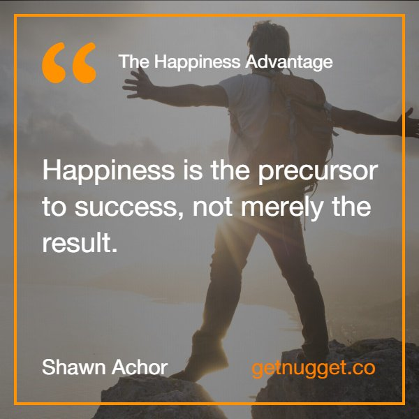 Shawn Achor On Twitter Getnuggetapp Success Is A Result Of Inspiration Shawn Achor Quotes