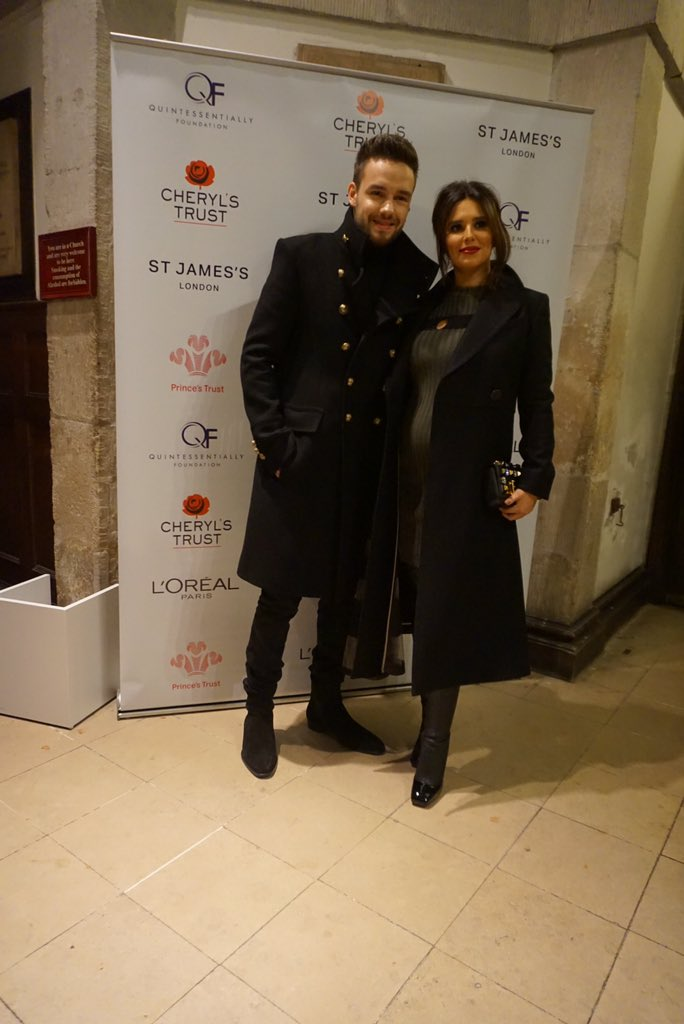 Stunning couple @CherylOfficial and @LiamPayne have arrived at the Fayre of St James's #quintessentiallyfoundation https://t.co/Al8DlikXzX