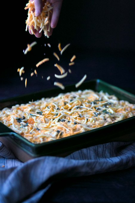 Baked Butternut Squash + Sage Macaroni and Cheese