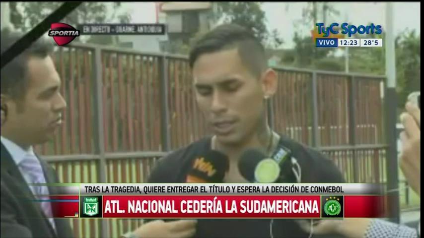 """Gilberto García, jugador de Atl. Nacional: """"Esperemos que la Conmebol le de la copa a #Chapecoense"""" https://t.co/EgkhyZoeSy"""