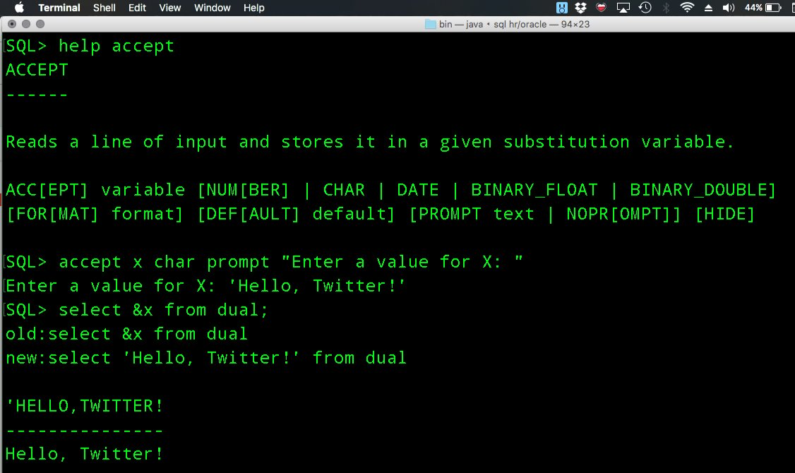 SQLcl on Twitter: