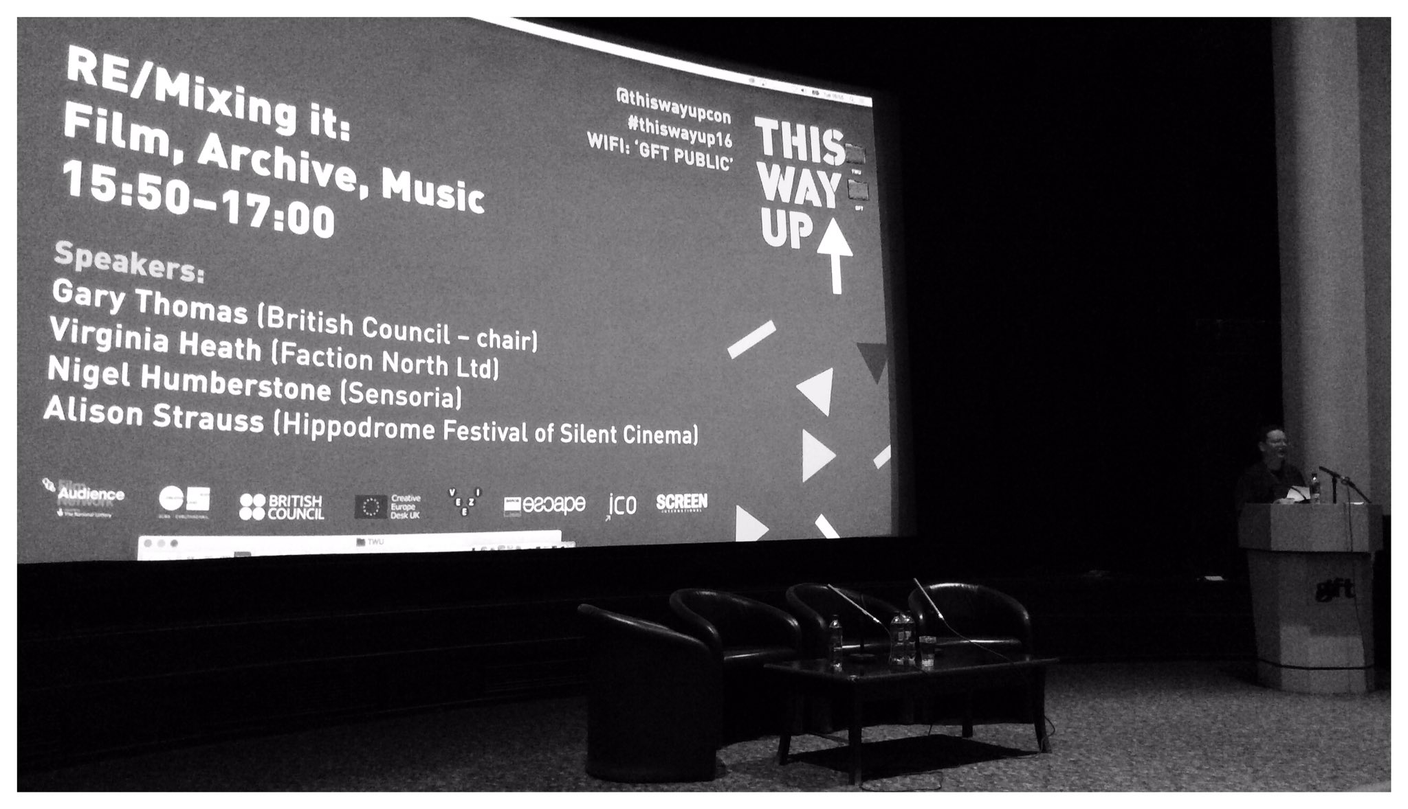 Collaborations between musicians and filmmakers chaired by Gary Thomas of the British Council #ThisWayUp16 https://t.co/zxlVdXfwWB