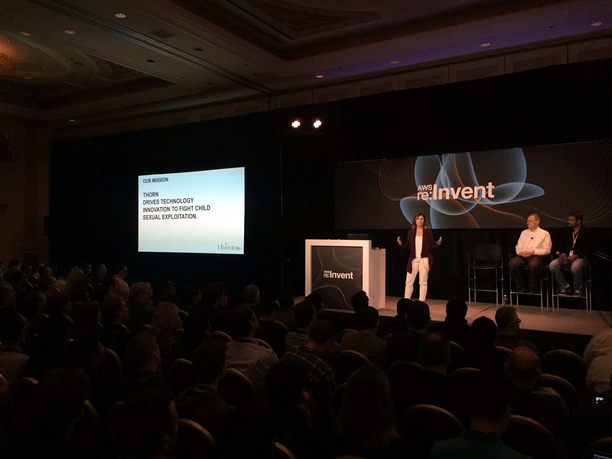 """AWS re:Invent on Twitter: """"Kristin Boorse sharing how @thorn ..."""