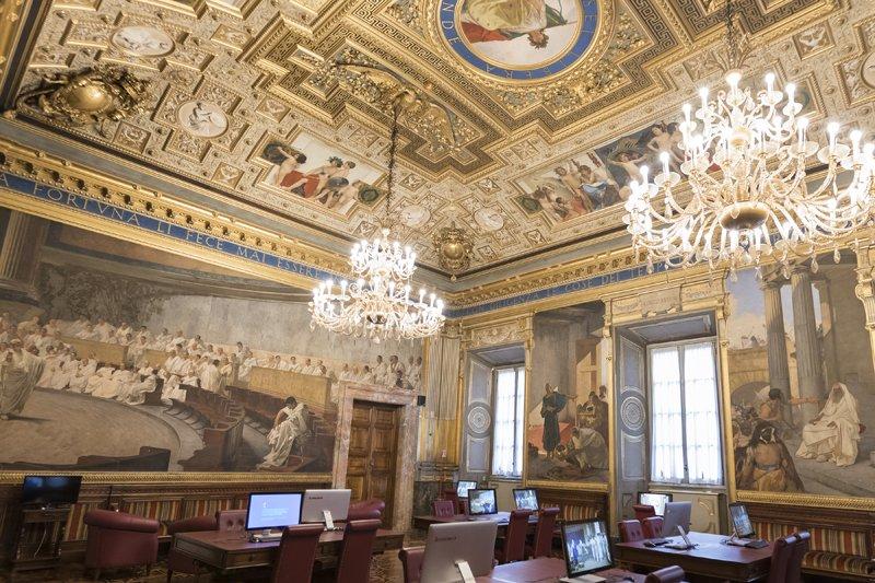 Senato repubblica on twitter sala maccari a palazzo for Senato della repubblica sede
