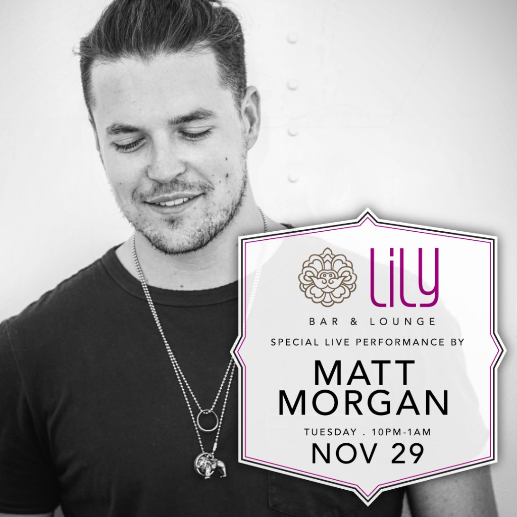 #MattMorgan is back at #LilyBarLV again. Don't miss out on this excellent performance! https://t.co/BcDZG4HZR6