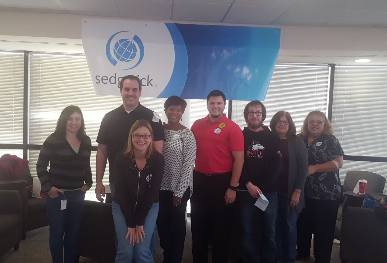 Sedgwick colleagues in Deerfield, IL hosted blood drive collecting enough blood to save about 100 lives.#Sedgwickgiftofhope #caringcounts https://t.co/tAWZQEqkfD