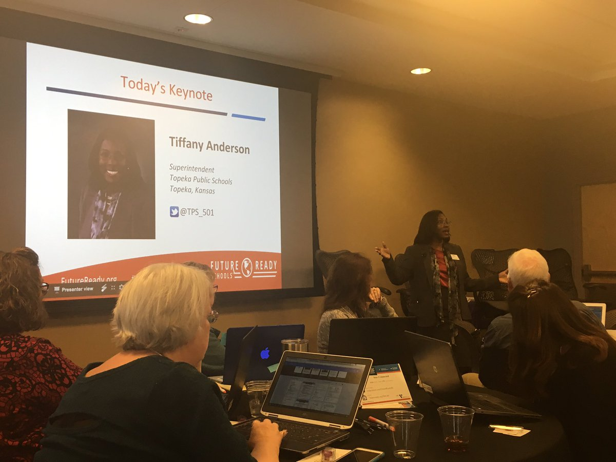 #FutureReady KC Keynote, Dr. Tiffany Anderson talks race, equity, poverty, & doing WHATEVER IT TAKES to support kids. #Leadership #EduColor