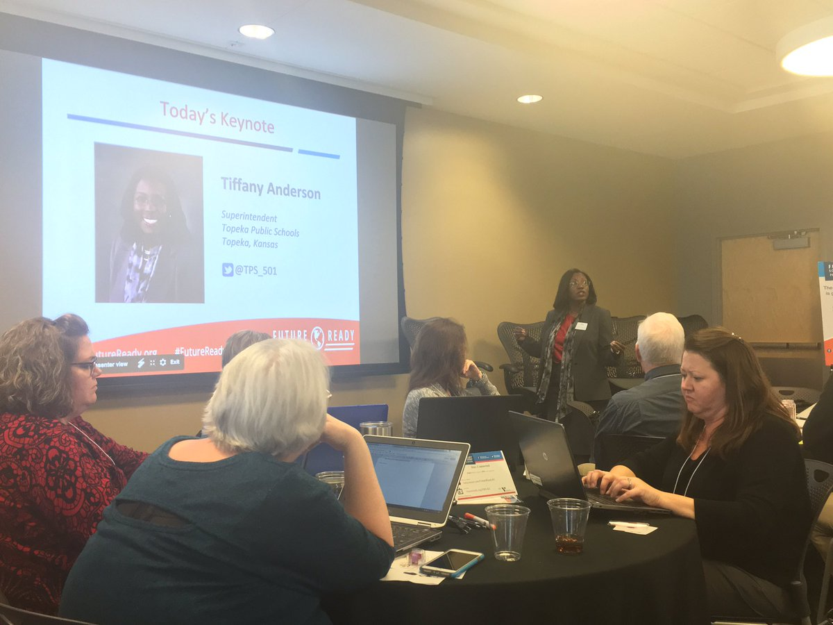"""Dr. Tiffany Anderson: """"Kids will work for you if they trust you. They won't if they don't."""" #FutureReady KC"""