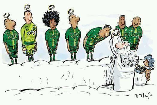 Chapecoense è la migliore squadra del mondo, tanto che è stata convocata da Dio.