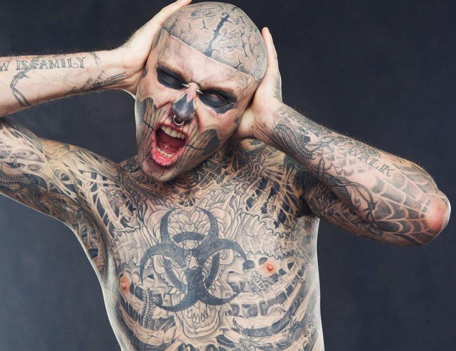 Mejores Tatuajes On Twitter El Hombre Mas Tatuado Del Mundo Se