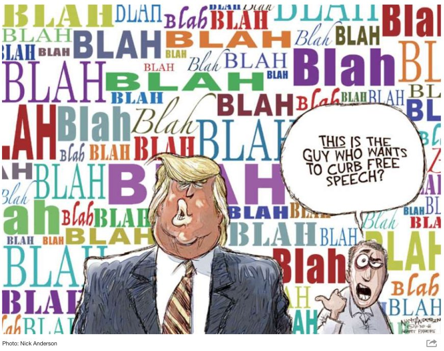 Image result for trump blah blah cartoons