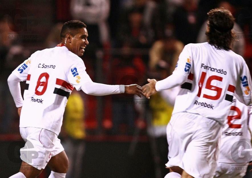 Cleber Santana e Fernandão no São Paulo FC: ambos morreram em acidentes aéreos!