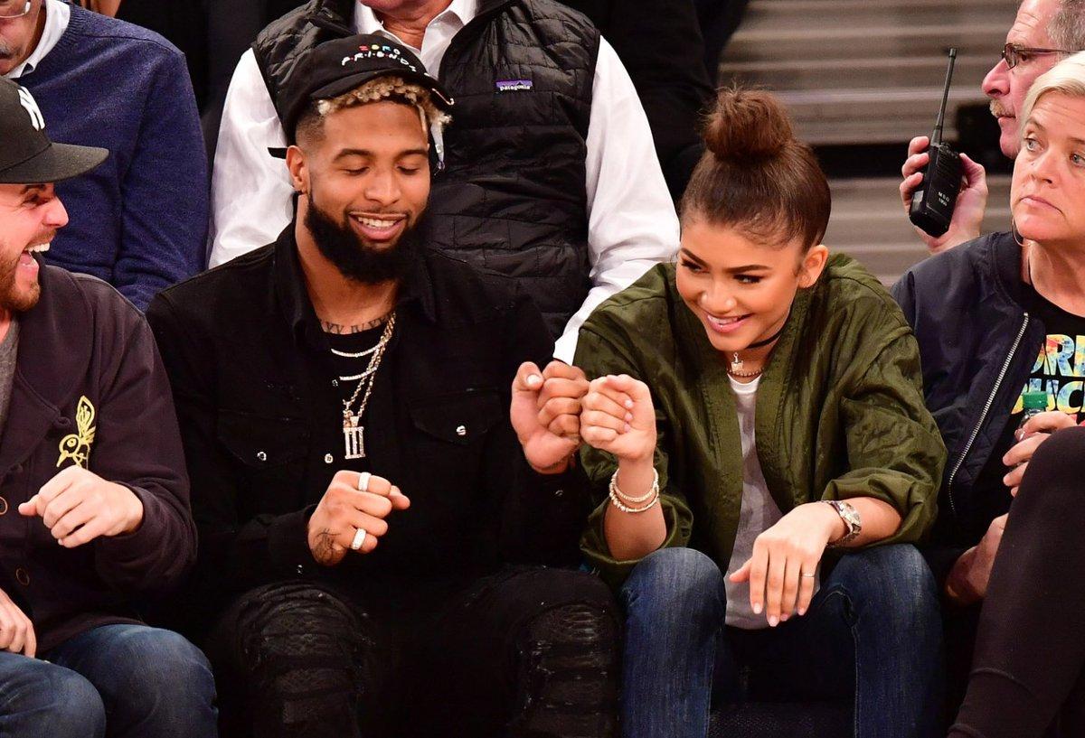Odell Beckham Jr. — Courting Zendaya (Again?) … Hanging ... |Zendaya And Odell Beckham Knicks