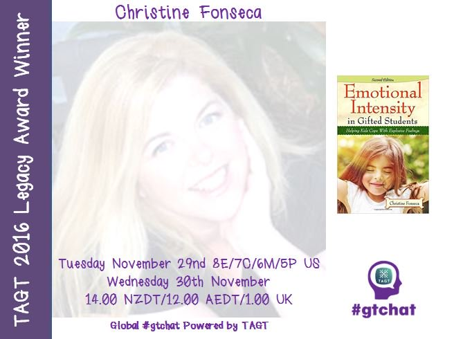 Thumbnail for #gtchat: Guest ~ Christine Fonseca & Emotional Intensity
