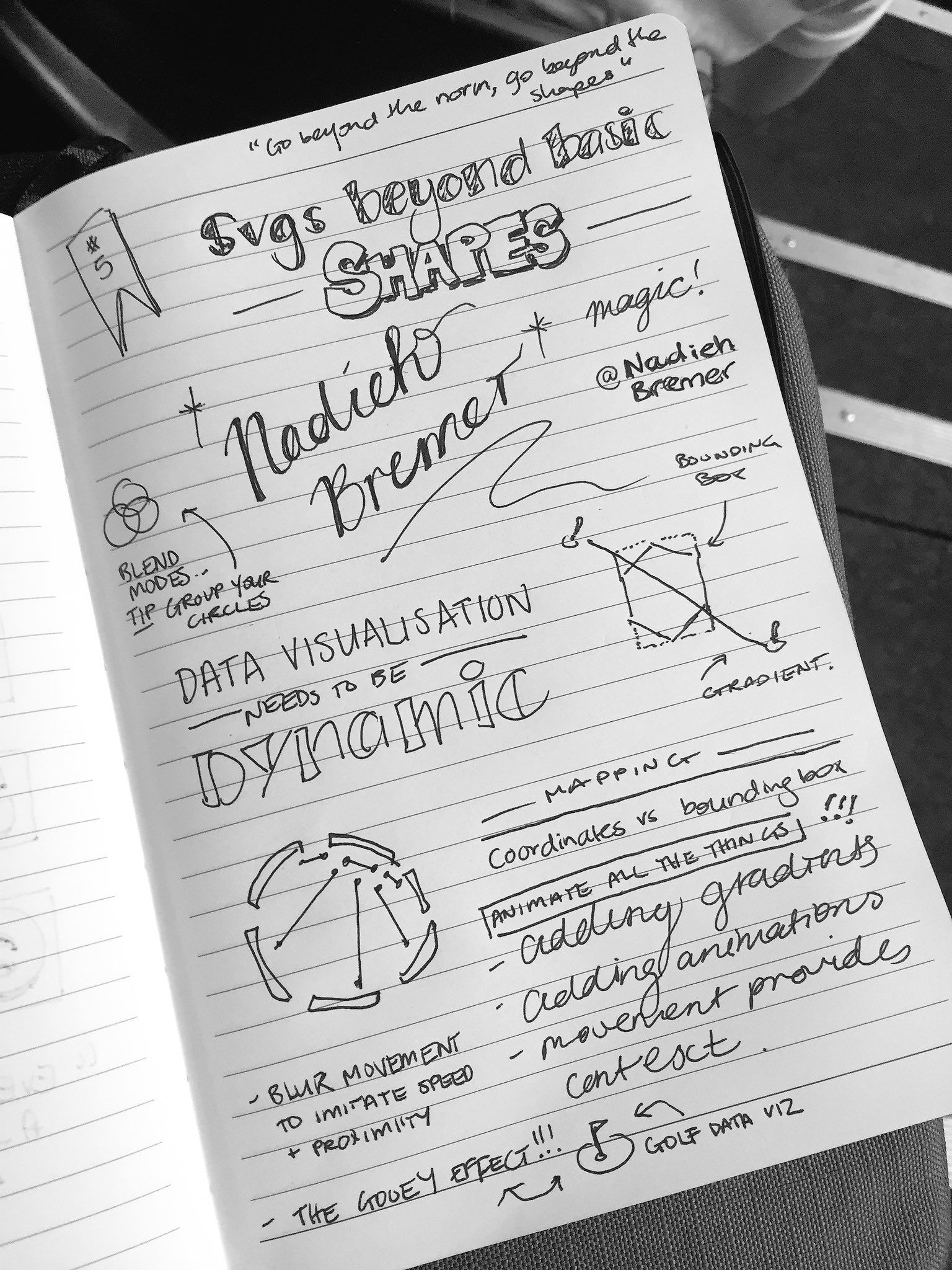 "LOVED this talk by @NadiehBremer 🙌🏼 #cssconfau16 ""SVGs beyond basic shapes"" 🌶🌶🌶 https://t.co/EXL73SlFuE"
