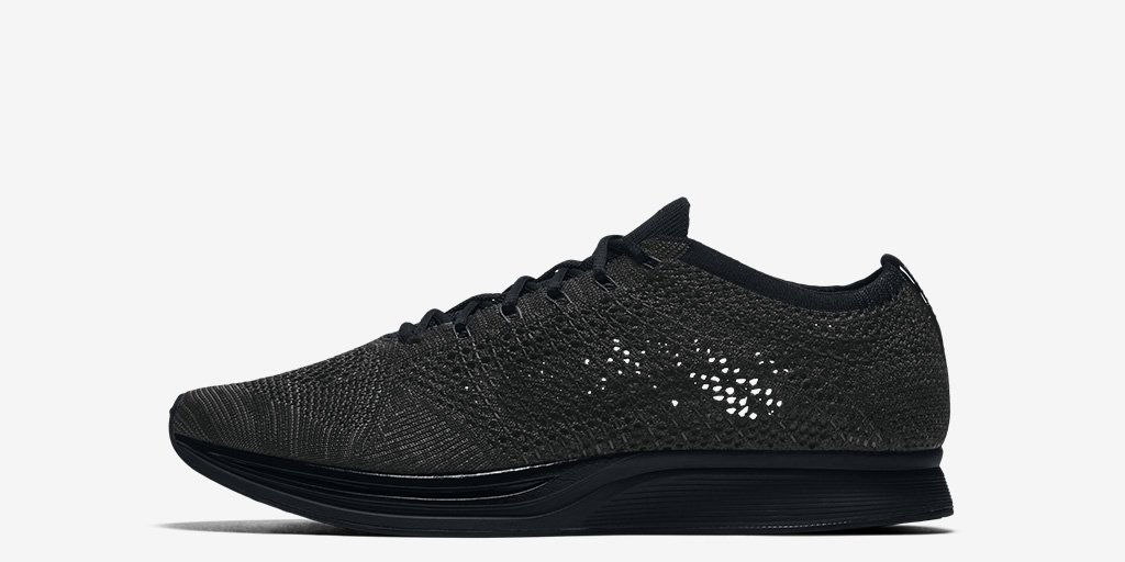 e8767d5e237d ... amazon featuring a blacked out sole for the first time ever the nike  flyknit racer 7f2f3