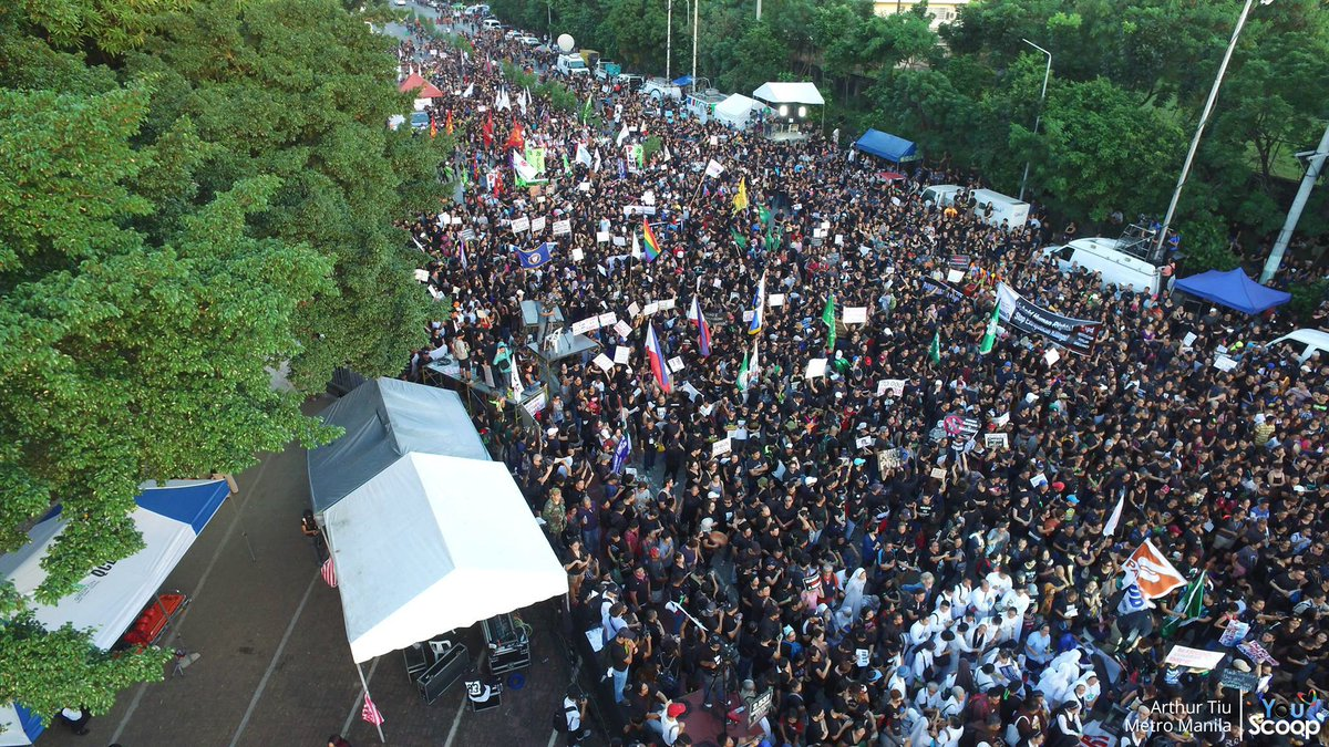 YouScoop On Twitter Drone Shots Ng MarcosBurialProtest Sa People Power Monument Kuha Ni YouScooper Arthur Tiu Tco U1v53WxHNg