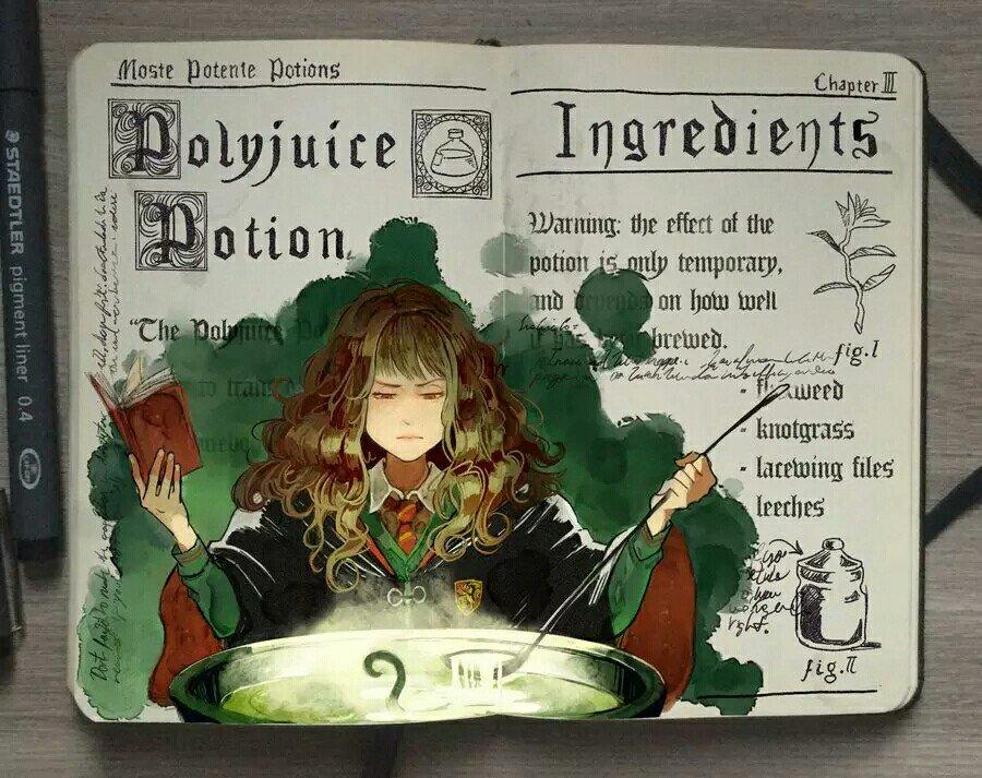 Brazilian illustrator Picolo Kun books on the hand-painted watercolor 'Harry Potter'