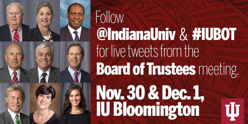 Thumbnail for IU Board of Trustees meeting - Nov. 30 & Dec. 1, 2016