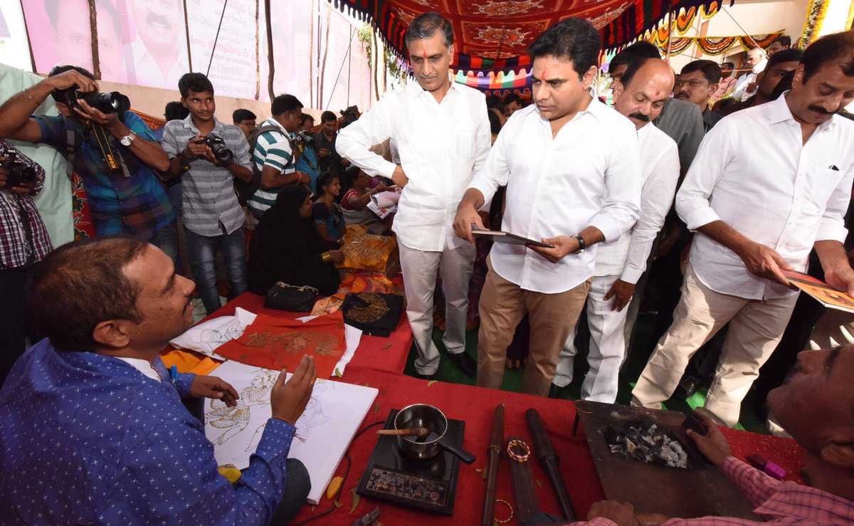 Harish Rao Thanneeru On Twitter Inaugurated Golconda Handicrafts