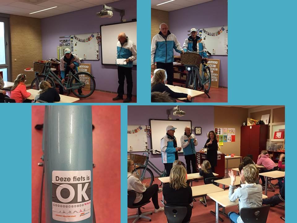 Fietscontrole op Lieflandschool door VVN
