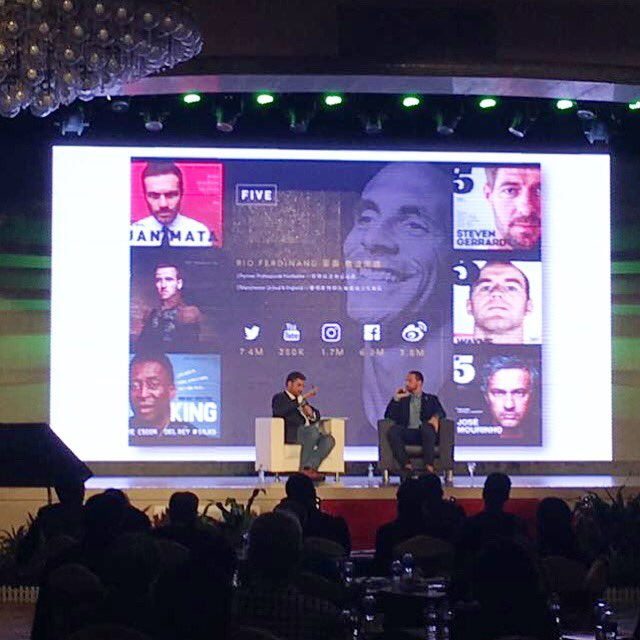 Enjoyed speaking at the LeSportsConnects in China today... discussing all things FIVE & growth in football #LSC2016 https://t.co/A6BkSSY25z