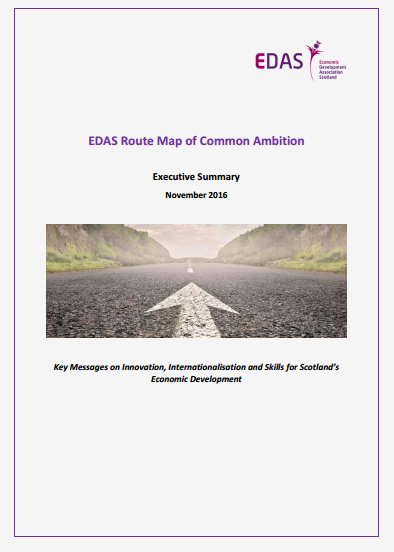 EDAS has published the Final Report on the Route Map of Common Ambition policy framework! Read here: https://t.co/0yaRAjs8Ov #ScotEcon16 https://t.co/2KhcDkIjBQ