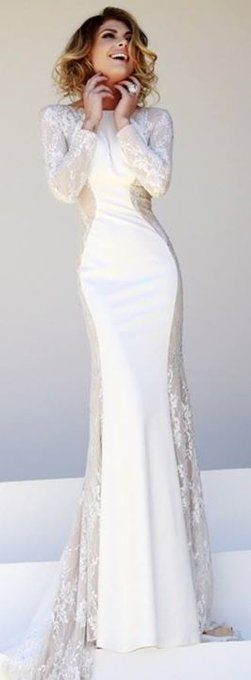 Dress: prom classy prom long sleeves maxi cream sherri hill white long prom long sleeves bohemian