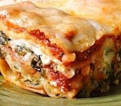 Mushroom, Sausage, and Spinach Lasagna