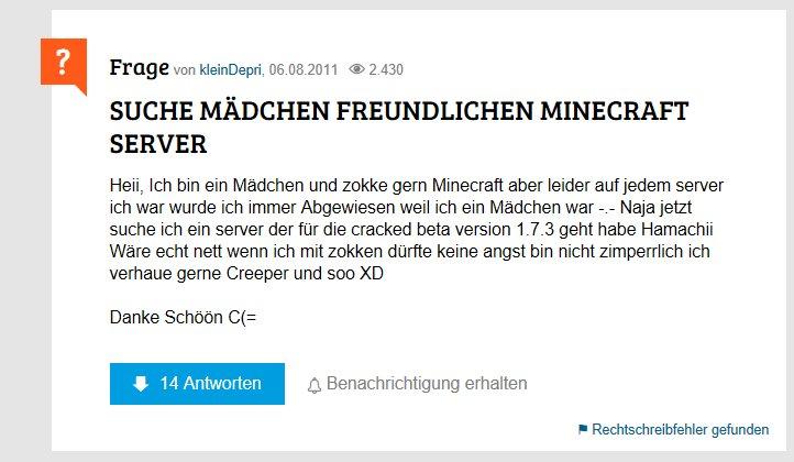 MOK On Twitter Minecraft Spieler Sind Gebildete Studenten - Minecraft spieler suchen