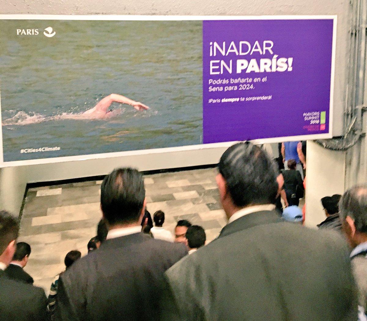 Paris ville innovante et durable à l'honneur dans le métro de Mexico ! #cities4climate #Parisjetaime