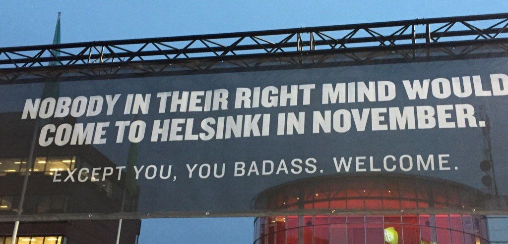 Love this banner from #Slush16