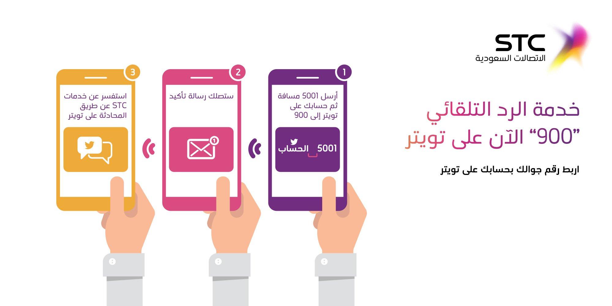 Stc السعودية على تويتر اربط جوالك بحسابك في تويتر أرسل5001 مسافة ثم حسابك على تويتر إلى 900 بإمكانك أن تستفسر عن خدماتنا بالرسائل الخاصة Https T Co Ctshhswkwr Https T Co 2juhgji00i