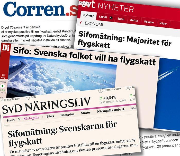 Svenskarna positiva till flygskatt