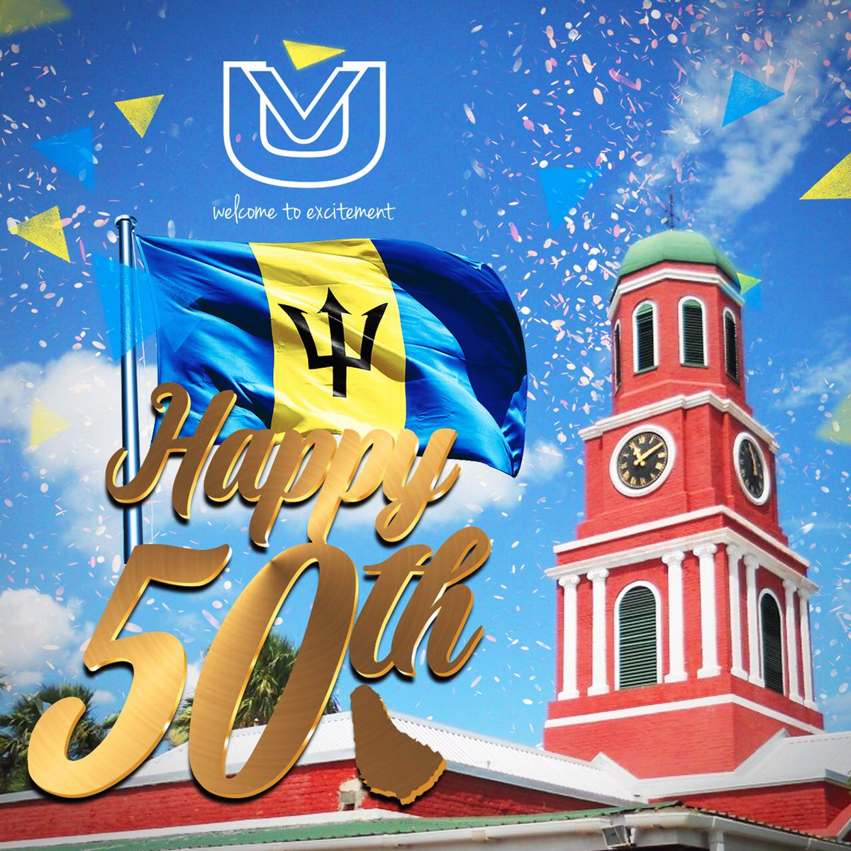 Happy  Independence Day Barbados!  #Celebrating50 #Bim50 https://t.co/CfwnzD30zK