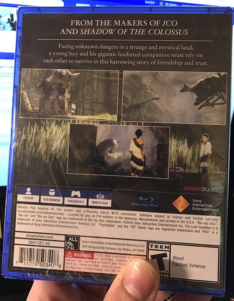 Alguém já está com The Last Guardian em mãos e mostra que jogo tem só 15 GB
