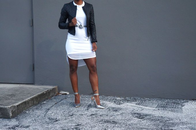 How To Style Perspex Heels + White Dress