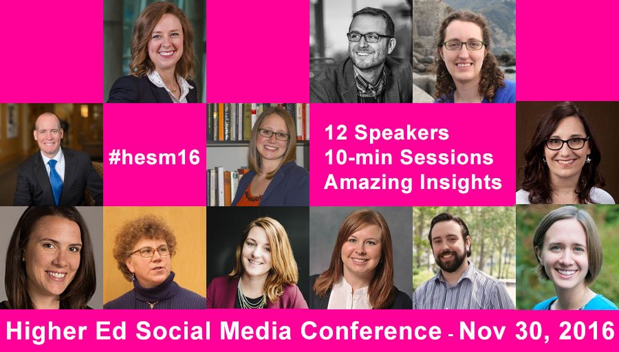 Tuning in to #hesm16 https://t.co/tBhkQzZog5 #HigherEd #SocialMedia https://t.co/1IMZC16fmm