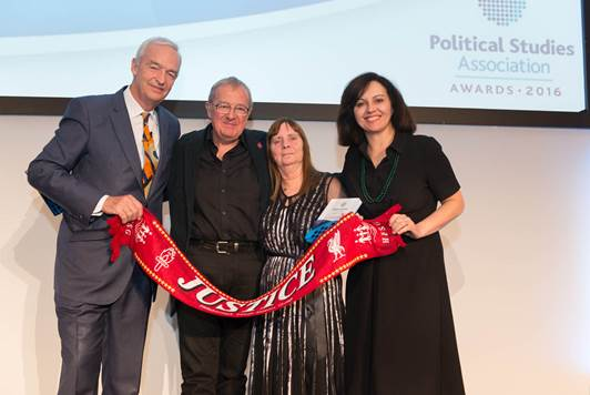 Prof Phil Scraton has been named Campaigner of the Year with @HFSG_Official for getting justice for #Hillsborough96. #PSAAwards  #LoveQUB https://t.co/dqrzkUYQ4c