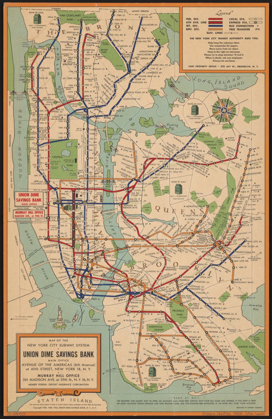 This 76 piece #puzzle is a map of the #NYC subway system from 1954!  https://t.co/SXj5YwALyi https://t.co/EQ36KSIsk1