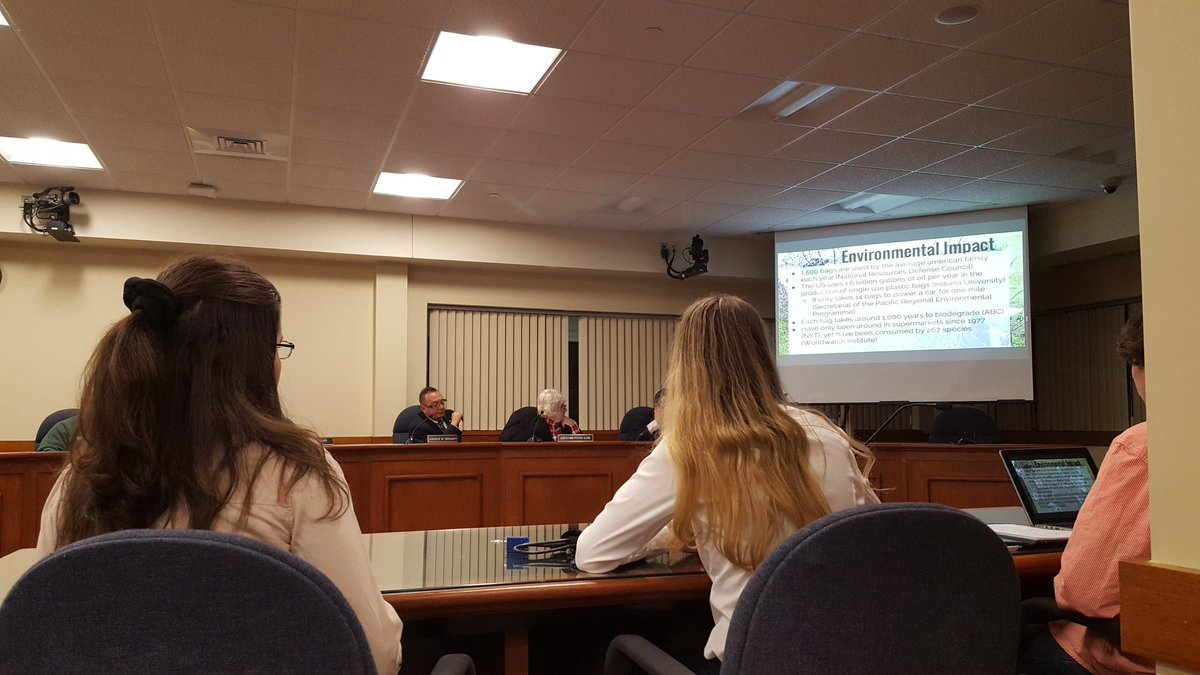 FHS students discussing the proposal with the EDC Nov 30, 2016