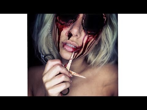 missing eyes sfx halloween makeup tutorial by beeisforbeeauty