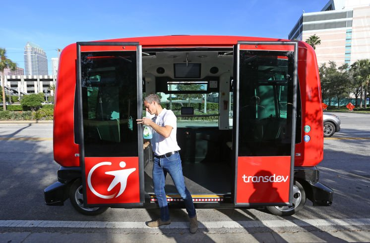 Tampa gets look at driverless shuttles planned for downtown